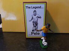 HAND Painted football in metallo Cast Figura PELE Nuovo di zecca con scatola.