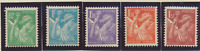 France Stamp Scott #376//387, Mint Hinged, 7 Different