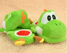 2018 TOP Hot Super Mario Brothers Yoshi Adult plush Pantoufles One Pair green