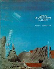 AA.VV. Aspects de l'art moderne en France. Paris, Galerie Daniel Malingue 1989