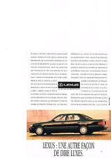 PUBLICITE ADVERTISING  1993   TOYOTA  LEXUS