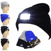 5-LED Light Cap Beanie Hat With 2 Batteries For Sports Camping Hunting Fishing