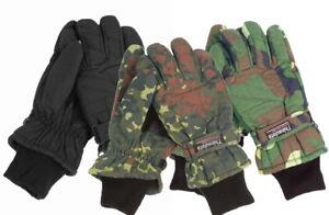 Handschuhe Kälteschutz Thinsulate Futter Camo schwarz flecktarn woodland