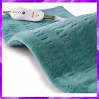 ELECTRIC HEATING PAD for Back Pain Cramps Relief Therapy Teal XL 12x24 SUNBEAM
