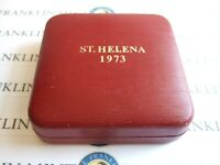 1973 Royal Mint ST. HELENA Silver Proof 25 Pence Crown EAST INDIA CO Cert FDC!
