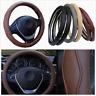 Durable 38cm Car Styling Embossed Steering Wheel Cover Skid-proof PU Leather