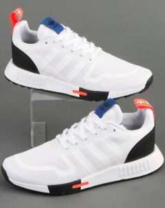 adidas Multix Trainers in White, Black & Orange - lightweight runners, gym SALE