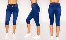 Juniors Women's Tush Push Blue Bling Jeans Capris Shorts Size 13 New Style TC911