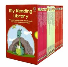 New The Usborne Reading Collection My Reading Library Hardcover 50 Books - Red