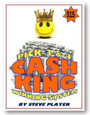 WINNING DELAWARE CASH KING LOTTERY SYSTEM - PICK-3 & PICK-4 Steve Player