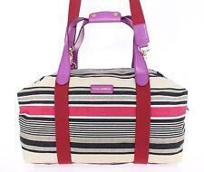 NEW $1300 DOLCE & GABBANA Multicolor Linen Leather Travel Gym Hand Shoulder Bag