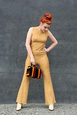 Handtasche 70er beauty case Köfferchen Kulturtasche True Vintage 70s Samt Tasche