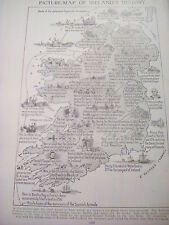 Ireland Historical Events Map 1 Small Page 1920's Encyclopedia to Frame?