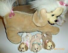 Puppy Surprise Dog Hasbro Brown White 3 Puppies1991 VTG Plush Toy Animal Stuffed