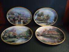 Vintage Thomas Kinkade's Lamplight Village Limited Edition Plates 1994-1995