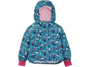 NEW Crivit Girls Waterproof ski jacket 4 5 6 years wind breaker snow coat blue