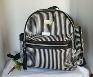 Carter's ~  Handle It All!!  Diaper Bag Backpack Black & White Stripes