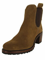 $378 Frye Womens Sabrina Chelsea Ankle Bootie Shoes, Chestnut, US 5.5