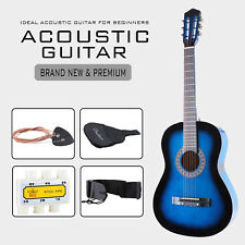 38'' Electric Beginners Acoustic Guitar w/ Guitar Case,Strap,Tuner and Pick Blue