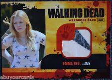 Walking Dead Season 1 M9 STAR BLOOD VARIANT Emma Bell Amy Costume Trading Card