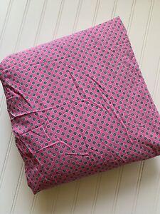 RALPH LAUREN Studio Foulard Fitted Sheet Azalea Hot Pink Queen