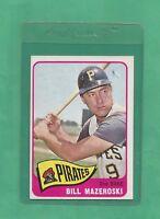 1965 Topps Pittsburgh Pirates Bill Mazeroski # 95 NM-MT Tough Card !!!!