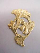 Raw Brass Art Nouveau Jewelry Findings -2  dozen