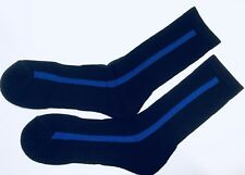 Thin Blue Line Boot Socks, Black, Cotton, Police Socks, Size 10-12, Large