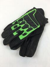 ICON HOOLIGAN MESH LEATHER GLOVES GREEN/BLACK - 2XL XXL
