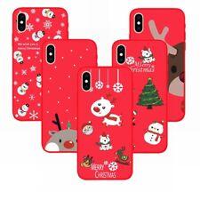 Teléfono De Navidad De Silicona Suave Estuche Cubierta para Apple iPhone XS Max Xr X Plus 8 7 6
