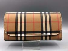 Authentic Burberry Vintage Check Halton Wallet Chalk White not