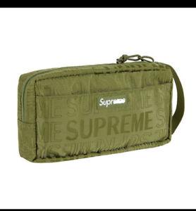 2019 SS Supreme Unisex Organizer Pouch Dark Green