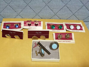 Vintage Gold Tone Cuff Links Lot Of 8 -- 5066
