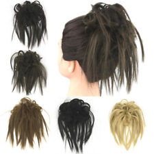 Women Messy Hairpeice Scrunchies Ponytail Chignon Bun Updo Cover Hair Extensions