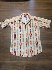 Panhandle Slim Mens Aztec western Shirt Short Sleeve Sz LG