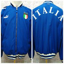 fe22a6e9a437 Puma Italia Soccer Track Jacket Mens Size M Blue White Zip Front