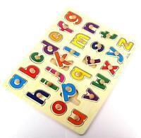Steckpuzzle Alphabet A - Z Lernspiel Setzpuzzle Kinder Spielzeug Holz Puzzle