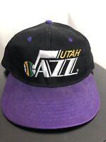 Utah Jazz Hat Retro Vintage Purple Black Snapback RARE