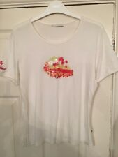 O'NEILL Ivory T-Shirt Sunset Palm Tree Beach Graphic Print M 10 12 14 Surf Skate