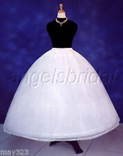 4 HOOP BONE SUPER FULL BRIDAL WEDDING GOWN DRESS PETTICOAT CRINOLINE SKIRT SLIP