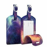 2 x Luggage Tags Name ID Labels with Back Privacy Cover for Travel Bag Suitcase