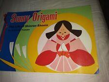 RARE Vtg Hardcover Sunny Origami the Life of Shinran Shonin/Fukuda-Samples/Paper