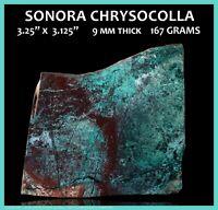 SiC~Sonora Chrysocolla Slab -Lapidary Rough Stone~Polished Sunrise