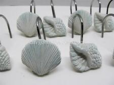 Coastal Bath Sea Shell Shower Curtain Hooks HIGH TIDE Seashells