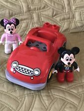 Lego Duplo  Replacement Figure EUC Mickey  Mouse Minnie Mouse Car