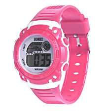 HONHX Children girls Digital Quartz LED Wrist Watch Date alarm Sport P9W5