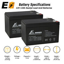 2 Pack - Replacement UB12120 12V 12Ah F2 Wheelchair Scooter Battery Replaces