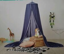 Pillowfort Voile Twin Bed/Play Area Canopy � Denim Blue with White Trim - New!