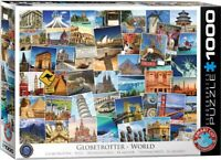 Eurographics Jigsaw Puzzle GLOBETROTTER WORLD - 1000 Pieces