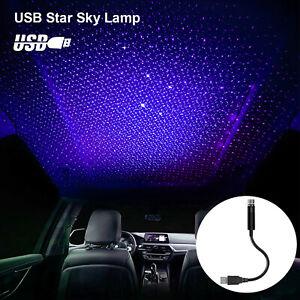 USB Car Interior Roof Atmosphere Light Starrry Sky Romatic Projector Night Lamp